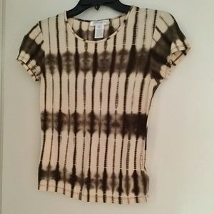 Jones New York Tie-Dye Silk Top